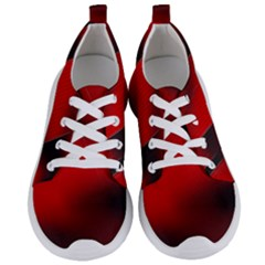Red Black Abstract Women s Lightweight Sports Shoes