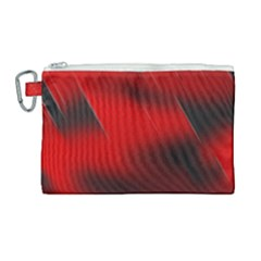 Red Black Abstract Canvas Cosmetic Bag (large)