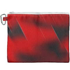 Red Black Abstract Canvas Cosmetic Bag (xxxl) by Simbadda