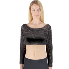 Marble Tiles Rock Stone Statues Long Sleeve Crop Top