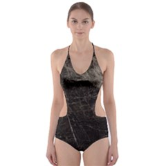 Marble Tiles Rock Stone Statues Cut Out One Piece Swimsuit