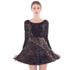 Marble Tiles Rock Stone Statues Long Sleeve Velvet Skater Dress
