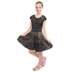Marble Tiles Rock Stone Statues Kids  Short Sleeve Dress