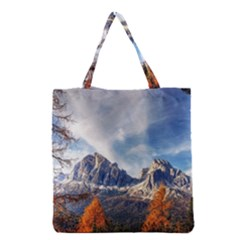 Dolomites Mountains Italy Alpine Grocery Tote Bag