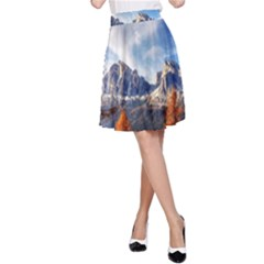 Dolomites Mountains Italy Alpine A Line Skirt