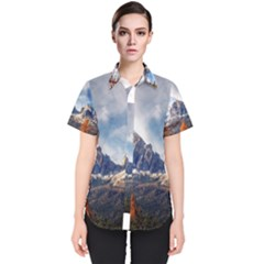 Dolomites Mountains Italy Alpine Women s Short Sleeve Shirt