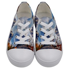 Dolomites Mountains Italy Alpine Kids  Low Top Canvas Sneakers