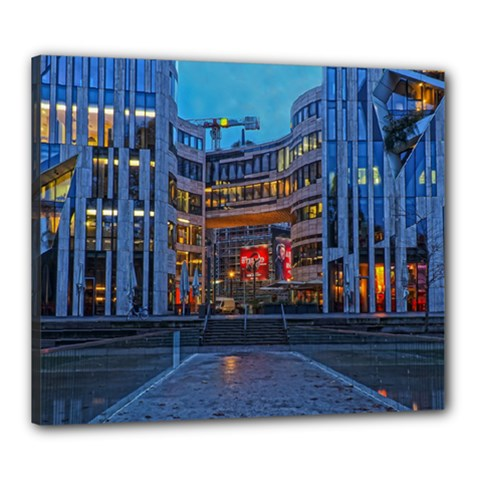 Architecture Modern Building Canvas 24  X 20