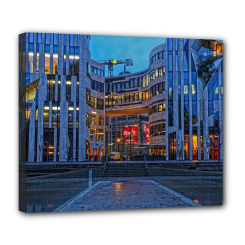 Architecture Modern Building Deluxe Canvas 24  X 20