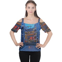 Architecture Modern Building Cutout Shoulder Tee