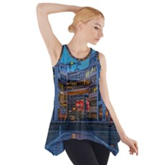 Architecture Modern Building Side Drop Tank Tunic
