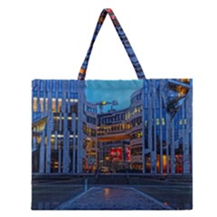 Architecture Modern Building Zipper Large Tote Bag
