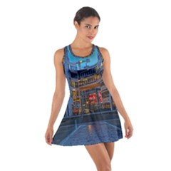 Architecture Modern Building Cotton Racerback Dress