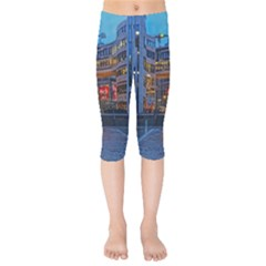 Architecture Modern Building Kids  Capri Leggings