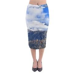 Mountains Alpine Nature Dolomites Midi Pencil Skirt
