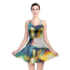 Art Painting Abstract Yangon Reversible Skater Dress