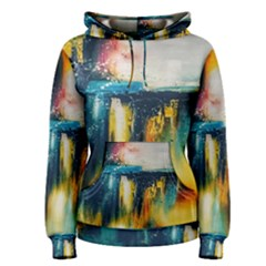 Art Painting Abstract Yangon Women s Pullover Hoodie