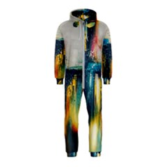 Art Painting Abstract Yangon Hooded Jumpsuit (kids)