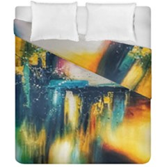 Art Painting Abstract Yangon Duvet Cover Double Side (california King Size)