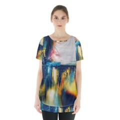Art Painting Abstract Yangon Skirt Hem Sports Top