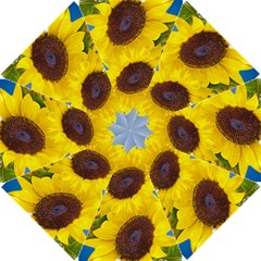 Sunflower Floral Yellow Blue Sky Flowers Photography Golf Umbrellas