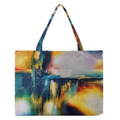 Art Painting Abstract Yangon Zipper Medium Tote Bag
