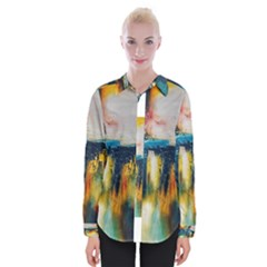 Art Painting Abstract Yangon Womens Long Sleeve Shirt