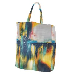 Art Painting Abstract Yangon Giant Grocery Zipper Tote
