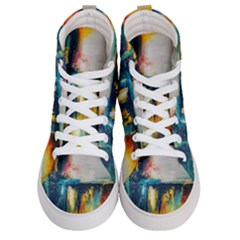 Art Painting Abstract Yangon Women s Hi Top Skate Sneakers