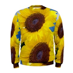 Sunflower Floral Yellow Blue Sky Flowers Photography Men s Sweatshirt