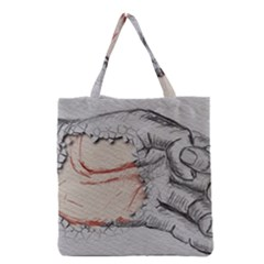 Hand Finger Drawing Fingernails Grocery Tote Bag
