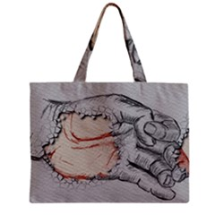 Hand Finger Drawing Fingernails Zipper Mini Tote Bag