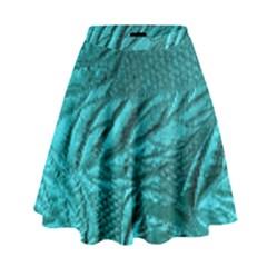 Background Texture Structure High Waist Skirt