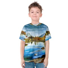 Dolomites Mountains Italy Alpin Kids  Cotton Tee