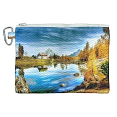 Dolomites Mountains Italy Alpin Canvas Cosmetic Bag (xl)