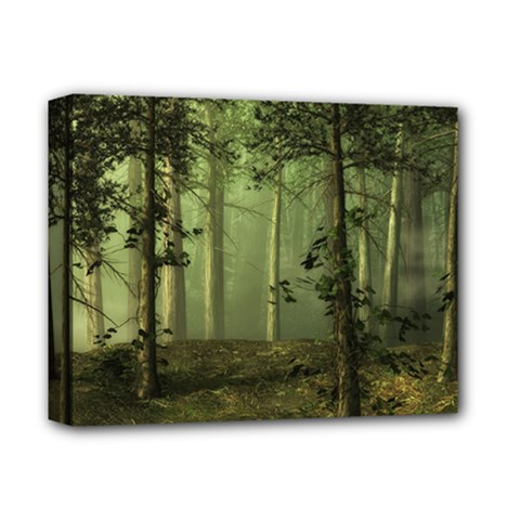 Forest Tree Landscape Deluxe Canvas 14  X 11