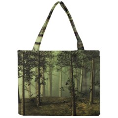 Forest Tree Landscape Mini Tote Bag by Simbadda