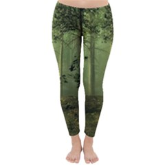 Forest Tree Landscape Classic Winter Leggings