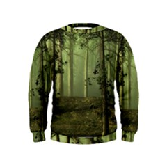 Forest Tree Landscape Kids  Sweatshirt