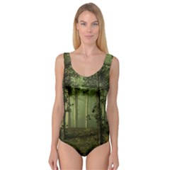 Forest Tree Landscape Princess Tank Leotard
