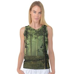 Forest Tree Landscape Women s Basketball Tank Top