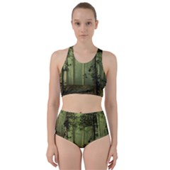 Forest Tree Landscape Racer Back Bikini Set