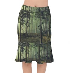 Forest Tree Landscape Mermaid Skirt