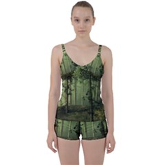 Forest Tree Landscape Tie Front Two Piece Tankini