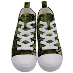 Forest Tree Landscape Kid s Mid Top Canvas Sneakers