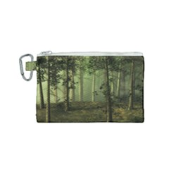 Forest Tree Landscape Canvas Cosmetic Bag (small)