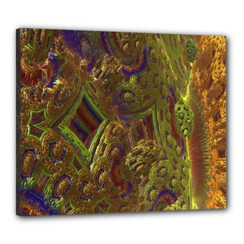 Fractal Virtual Abstract Canvas 24  X 20