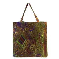 Fractal Virtual Abstract Grocery Tote Bag