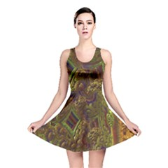 Fractal Virtual Abstract Reversible Skater Dress