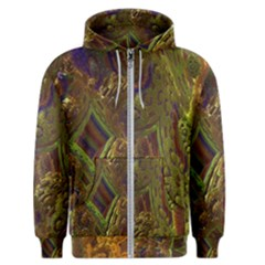 Fractal Virtual Abstract Men s Zipper Hoodie